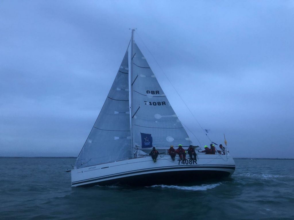 Sailing Logic has won the RORC Sailing School Boat of the Year nine years in a row and has a long history of competing in the race. This was the first time however for Arthur Logic and all the crew © Sailing Logic
