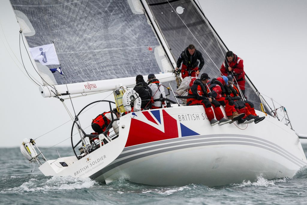 Pleased to have completed the challenging Sevenstar Round Britain and Ireland Race - The Army Sailing Association's X-41 British Soldier, skippered by Major Will Naylor arrive in the early hours of Friday morning © Paul Wyeth / RORC