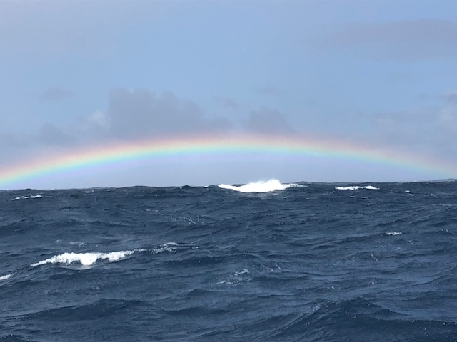 Shetlands rainbow sent in by the Junique Raymarine Sailing Team