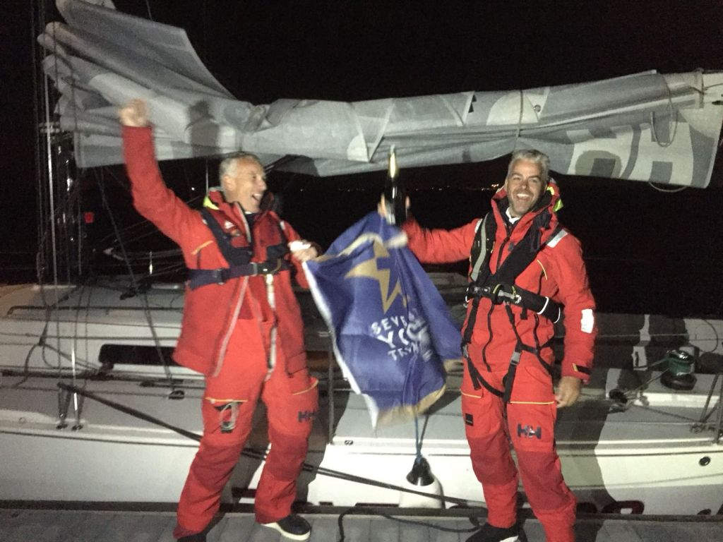 Chris Revelman & Pascal Bakker's Dutch J/122 Junique Raymarine Sailing Team finished the race on Thursday 23rd August close to midnight Gefeliciteerd! © RORC