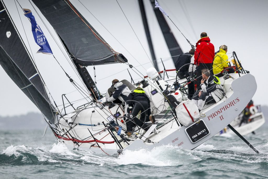 A battle in IRC between Giles Redpath's Pata Negra and Mark Emerson's A13 Phosphorus II © Paul Wyeth/RORC