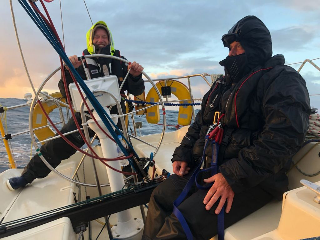 Chris Staples' Sigma 36 Tantrum of Langstone reported yesterday that they are looking forward to a cooked breakfast at the crew change! © Tantrum of Langstone
