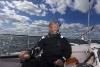 Damien Foxall, the navigator onboard Musandam-Oman Sail. Credit: Sander van der Borch