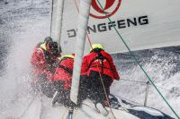 Chinese team on VO 65, Dongfeng, in the harsh race conditions. Credit:Riou/Dongfeng Race Team