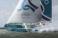 Musandam-Oman Sail, power through to the finish of the race. Credit: Oman Sail/Mark Lloyd