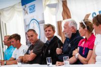 The panel at the Skippers Briefing for the 2014 Sevenstar Round Britain and Ireland Race. Credit: Paul Wyeth/pwpictures.com