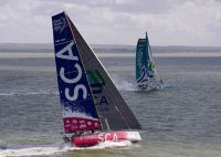 Team SCA at the start of the race. Credit: RORC/Rick Tomlinson/www.rick-tomlinson.com