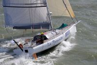 La Promesse blasting away from the start of the Sevenstar Round Britain and Ireland Race - photo RORC/Rick Tomlinson